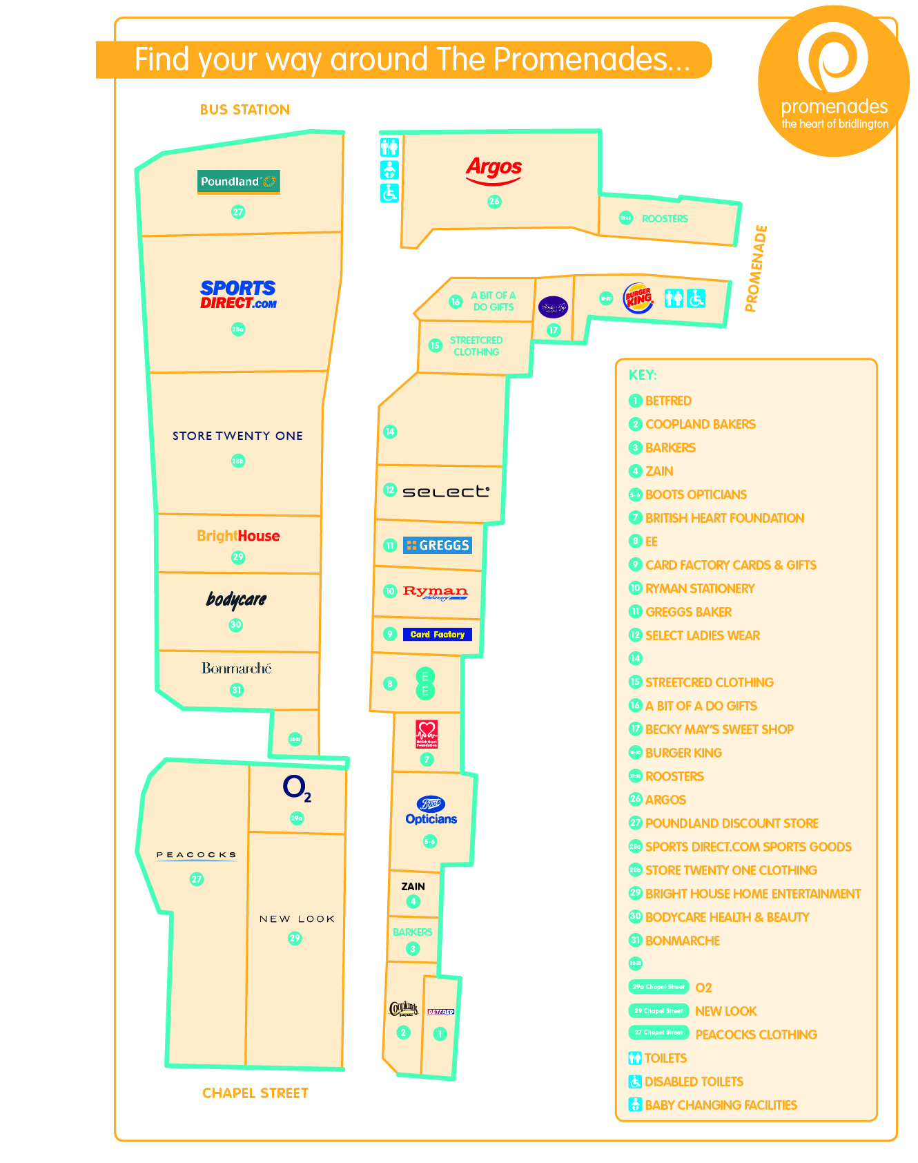 Promenades Site Map WEB